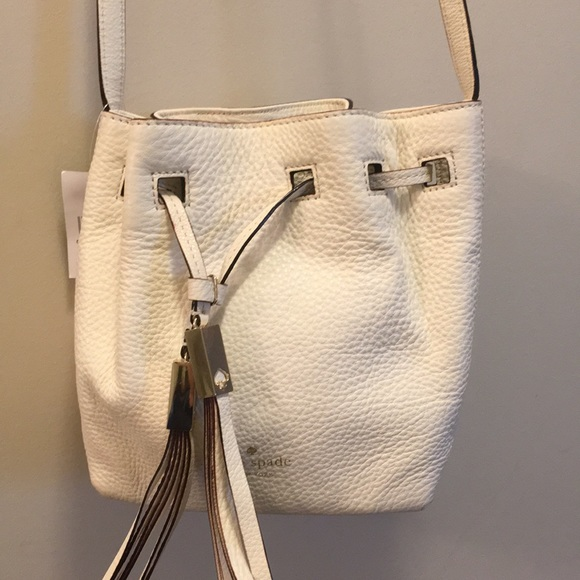 kate spade Handbags - Kate Spade Grey Street Tiny Cooper White